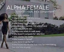 alpha female woman