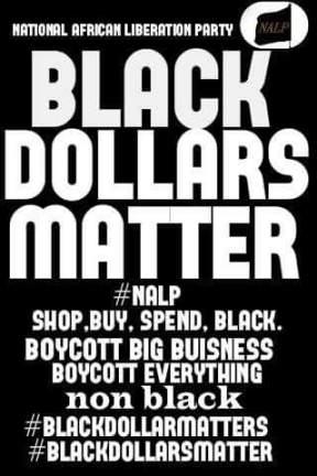 black dollars matter